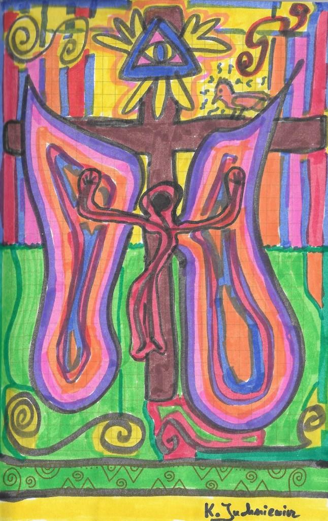 Zbuntowany Anioł na krzyżu się zbawi
