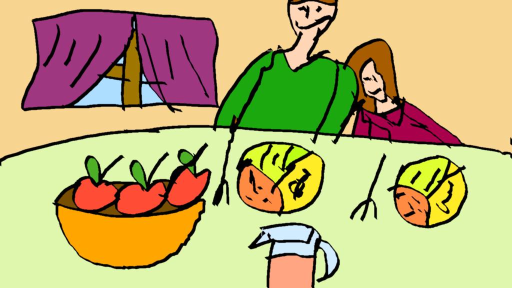 Posiłek wegański (razem, wspólnota)