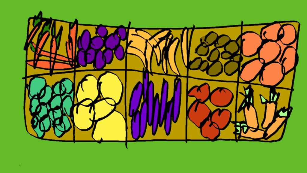 Owoce na straganie (market, zakupy)